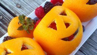 Orange Fruit Jack-O-Lantern