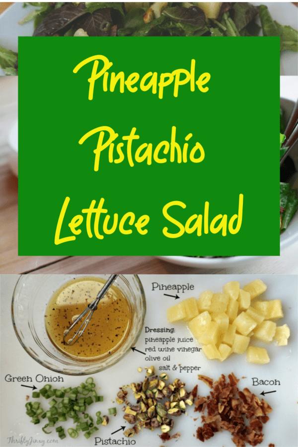 Pineapple Pistachio Lettuce Salad