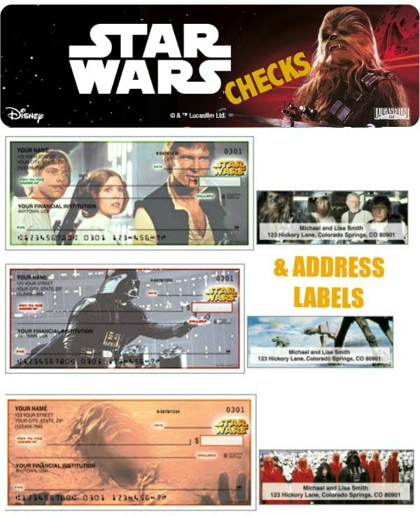 Star Wars Checks and Address Labels