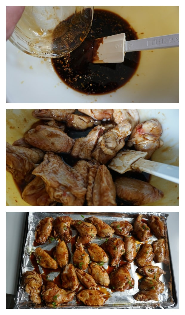 Sticky Asian Wings Recipe Process