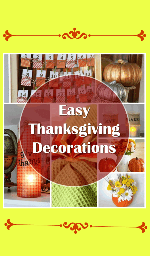 These easy DIY Thanksgiving decorations are super cute and you will be able to make them with only a minimum amount of time and supplies. Ideas include Give Thanks Luminaries, banners, signs, napkin rings and more to make your house festive! They are perfect for decorating your home throughout the season and will help set the stage for a beautiful family get-together on Thanksgiving Day itself.
