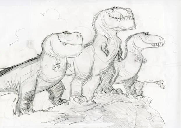 THE GOOD DINOSAUR - T-Rex character study by Matt Nolte. ©2015 Disney•Pixar. All Rights Reserved.