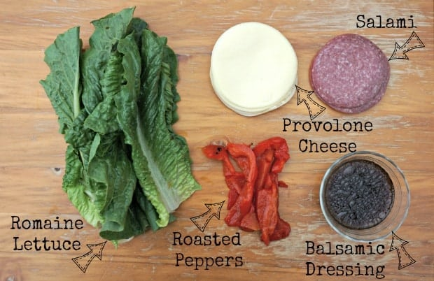 Italian Salad Roll-Ups Recipe Ingredients