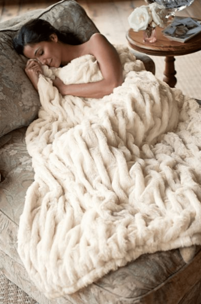 Paris Faux Fur Throw