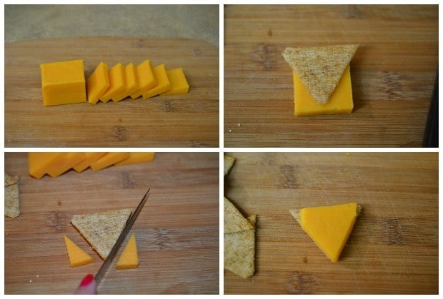 Pumpkin Pie Cheese Crackers Thanksgiving Appetizer Process 1