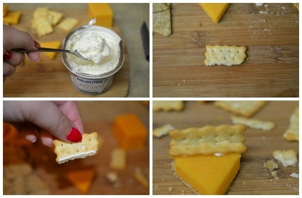 Pumpkin Pie Cheese Crackers Thanksgiving Appetizer Process 2