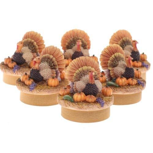 Turkey Thanksgiving Table Favor Decorations