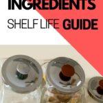 Baking INGREDIENTS SHELF LIFE