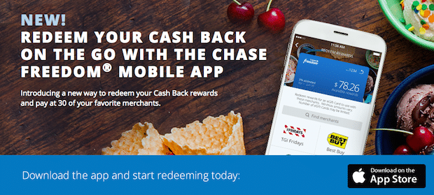 Chase Freedom Mobile App