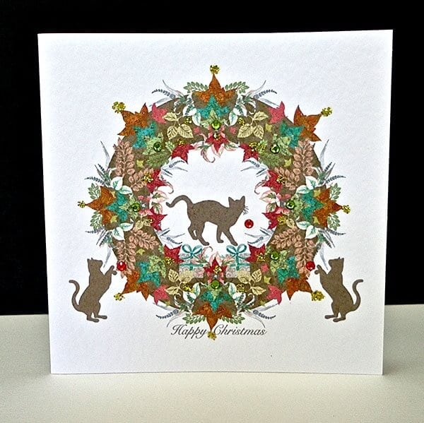 Christmas-Cat-Garland-Card