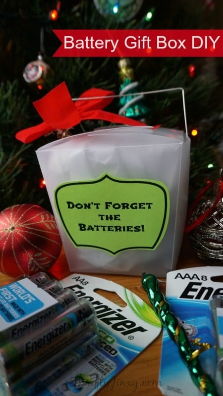Don't Forget the Batteries Take-Out Gift Boxes DIY