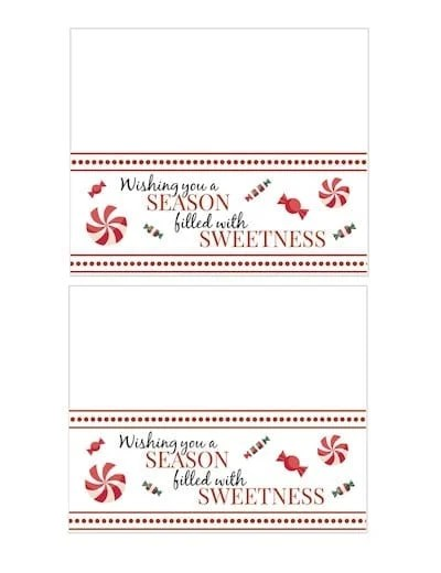 Printable Christmas Treat Bag Toppers