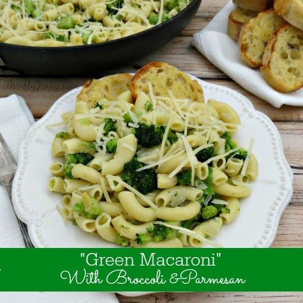 Broccoli Parmesan Macaroni Recipe - 30 Minute Dinner