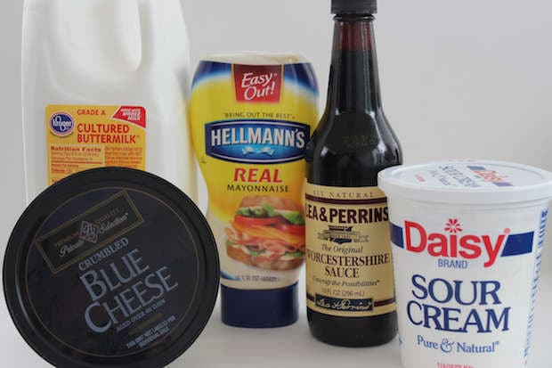 Easy Homemade Blue Cheese Dressing Recipe Ingredients