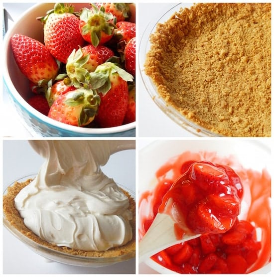 Easy Strawberry Cheesecake Pie Recipe Process