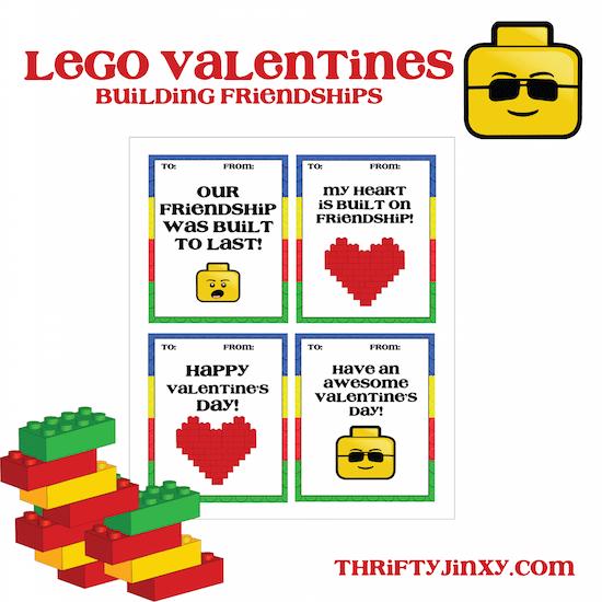 Free LEGO Valentines Printables