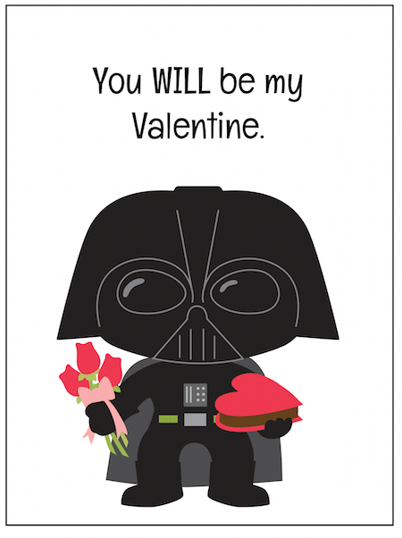 picture regarding Darth Vader Printable referred to as No cost Star Wars Valentine Printables - Thrifty Jinxy