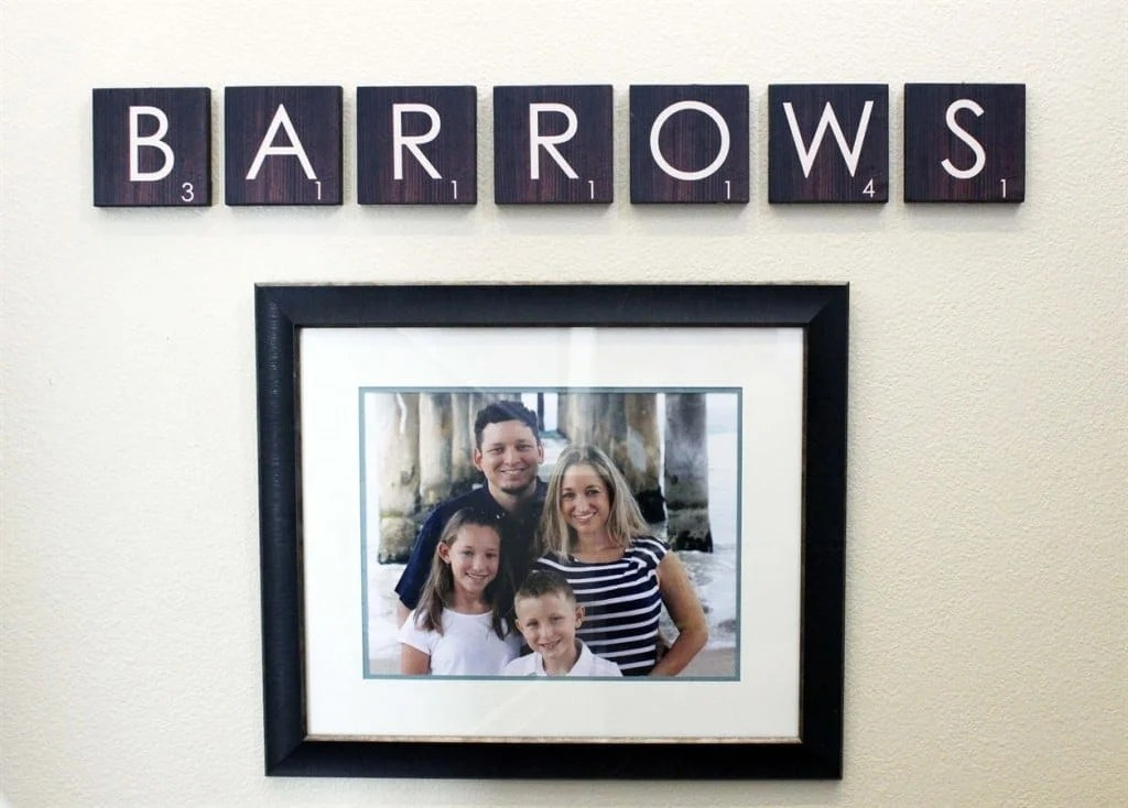 Scrabble Family Wall Art Design