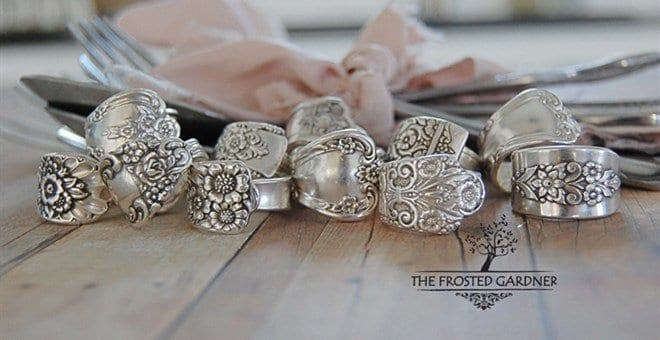 Silver Spoon Rings Frosted Gardener