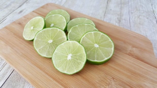 Sliced Limes for Detox Lime Infused Water