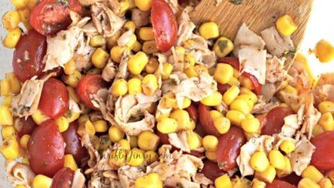 Chipotle Chicken, Corn, and Tomato Salad