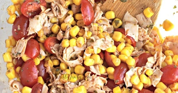 Chipotle Chicken, Corn Tomato Salad Recipe
