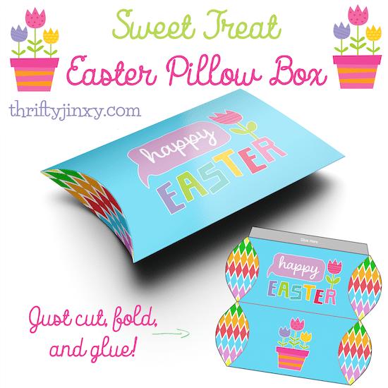 Easter Pillow Box Printable