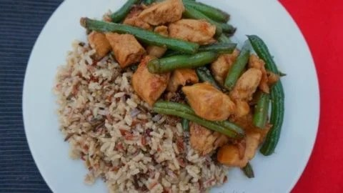 Honey Hoisin Green Bean Chicken