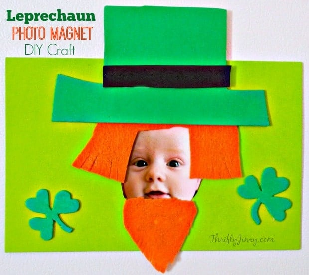 Leprechaun Photo Magnet St. Patrick's Day Craft