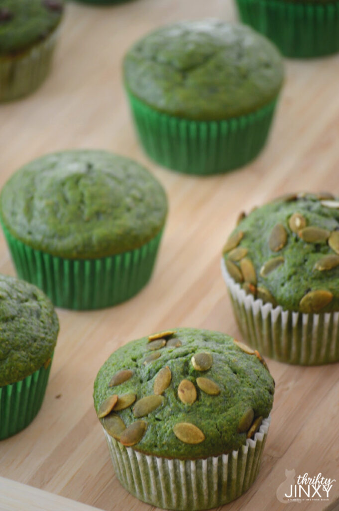 Spinach Chocolate Chip Muffins