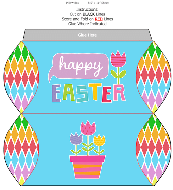 Printable Paper Easter Box