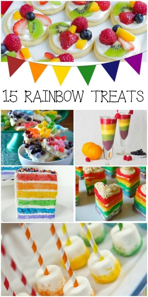 15 Rainbow Themed Treats Collage