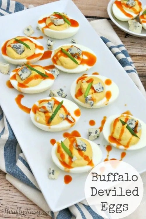 This Buffalo Deviled Eggs Recipe is perfect for a party appetizer or just as a way to use up leftover Easter eggs!