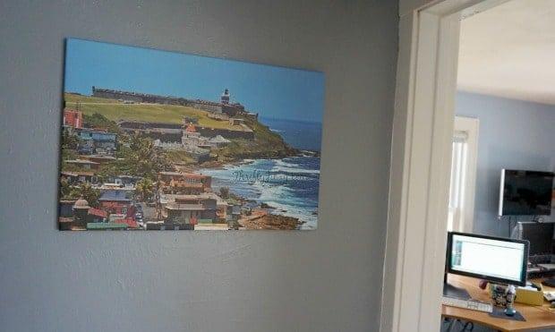 Canvas Print in Hallway