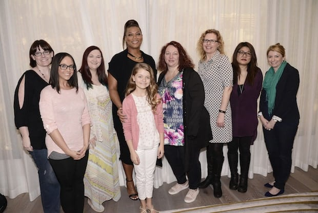 """Queen Latifah and Kylie Rogers seen at Columbia Pictures """"Miracles From Heaven"""" Photo Call at The London on Friday, March 4, 2016, in West Hollywood, CA. (Photo by Dan Steinberg/Invision for Sony Pictures/AP Images)"""
