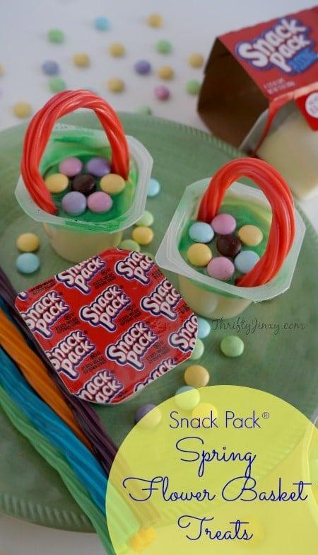 Snack Pack Spring Flower Basket Treats