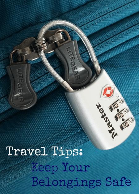 Travel Tips- Keep Your Belongings Safe