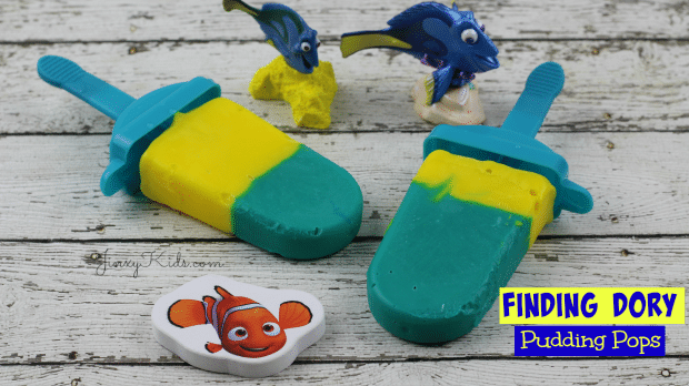 Finding Dory Pudding Pops Recipe - So fun!