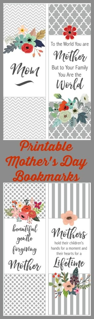 Printable Mother's Day Bookmarks