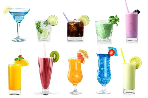 Cocktail drinks.