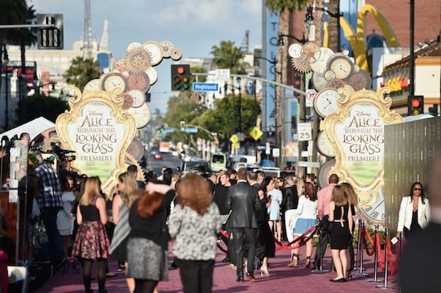 HOLLYWOOD, CA - MAY 23: A view of the atmosphere at Disneyís 'Alice Through the Looking Glass' premiere with the cast of the film, which included Johnny Depp, Anne Hathaway, Mia Wasikowska and Sacha Baron Cohen at the El Capitan Theatre on May 23, 2016 in Hollywood, California. (Photo by Alberto E. Rodriguez/Getty Images for Disney)