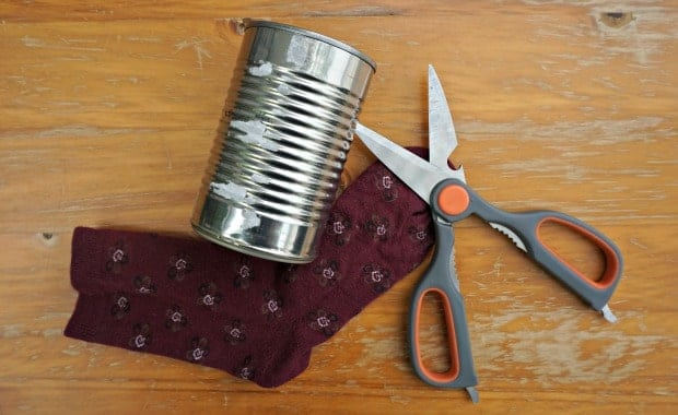 DIY Sock Cozy Upcycled Tin Can Planters Supplies