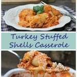 stuffed shells casserole pin