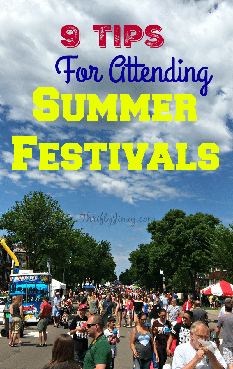9 Tips for Attending Summer Festivals - Make your summer fair or festival trip more fun when you plan ahead!