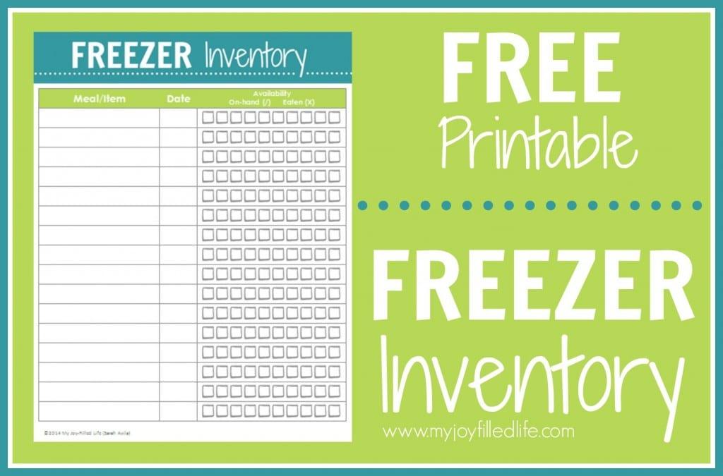 Freezer-Inventory-Printable