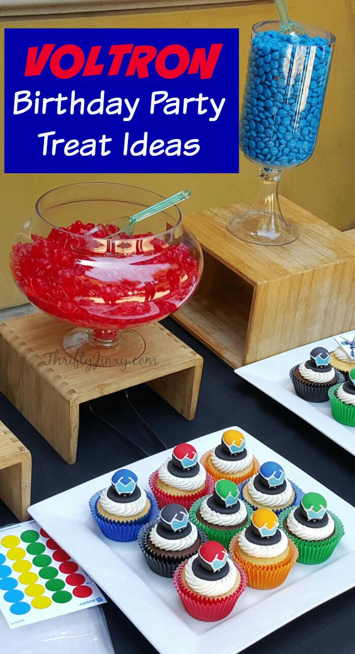 Voltron Birthday Party Treat Ideas