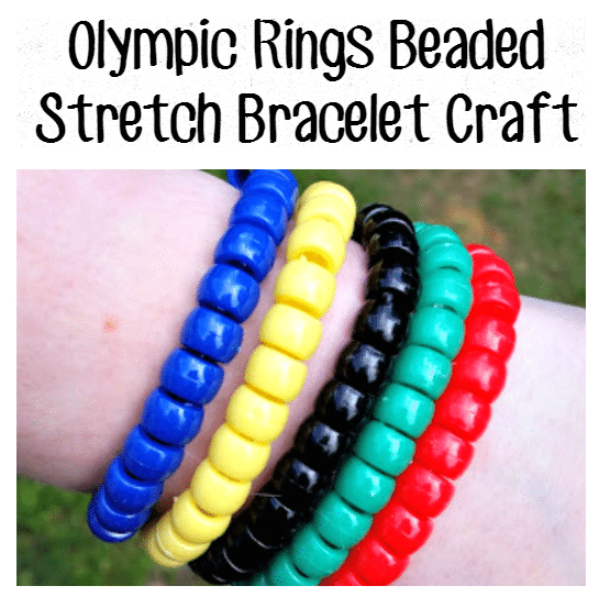 Olympic-Rings-Beaded-Stretch-Bracelet-Craft