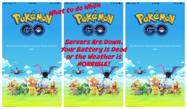 What to do When Pokemon GO Servers are Down or Your Battery is Dead