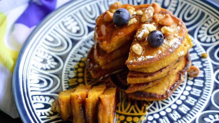 Pumpkin Butterscotch Pancakes
