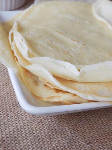 homemade crepes
